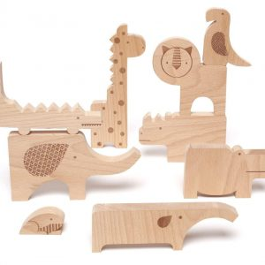Petit Collage : animaux + puzzle la jungle + jeu d'équilibre en bois