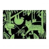 puzzle phosphorescent 100 pieces animaux jungle