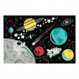 puzzle phosphorescent 100 pieces espace vaisseaux cosmonaute