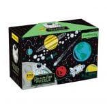 puzzle phosphorescent 100 pieces espace vaisseaux spatial