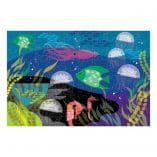 puzzle phosphorescent 100 pieces les animaux marins