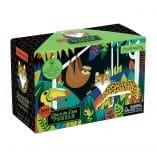puzzle phosphorescent enfants 100 pieces animaux jungle