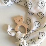 coffret cadeau naissance doudou lange petit ours briki vroom vroom