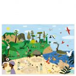 poster jeu-puzzle-dinosaures pirouette
