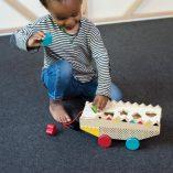 boite a formes alligator jouet en bois enfant petit collage