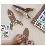 kit-creatif-fusees-en-carton loisirs creatifs enfant pirouette