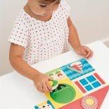 premiers puzzles en bois jouet premier age enfant petit collage