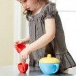 tea set bleu jouet bio greentoys