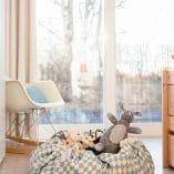 sac rangement jouet enfant losange bleu marque play and go