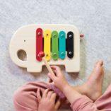 elephant instrument de musique petit collage