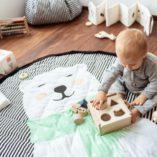 detail tapis de jeu sac ours play go