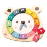horloge en bois enfant