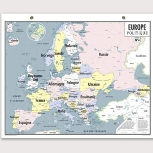 Ma carte de géographie : la carte de l'Europe