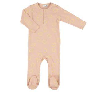 Pyjama bébé rose et citron