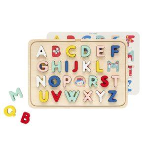 Petit Collage : puzzle alphabet en bois