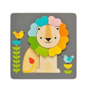 Petit Collage : puzzle lion en bois