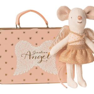 Maileg : souris ange dans sa valisette