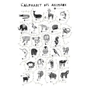 Wee Gallery : tenture murale alphabet des animaux