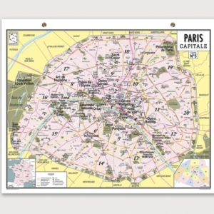 Ma carte de géographie : la carte de Paris