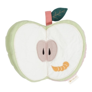 Fabelab livre d'éveil pomme en tissu bio