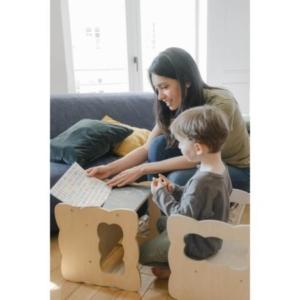 Boogy Woody : la chaise cube 3 en 1 Montessori