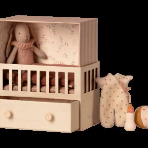 Maileg : baby room rabbit rose